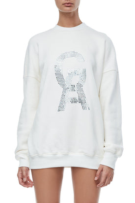 THE CRYSTAL ICON PULLOVER | WHITE001