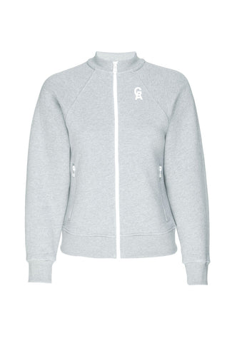 THE CROP ICON ZIP-UP | GREY001