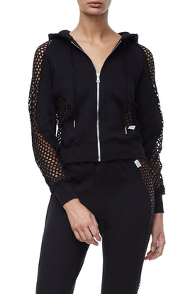 THE FISHNET ZIP-UP | BLACK001