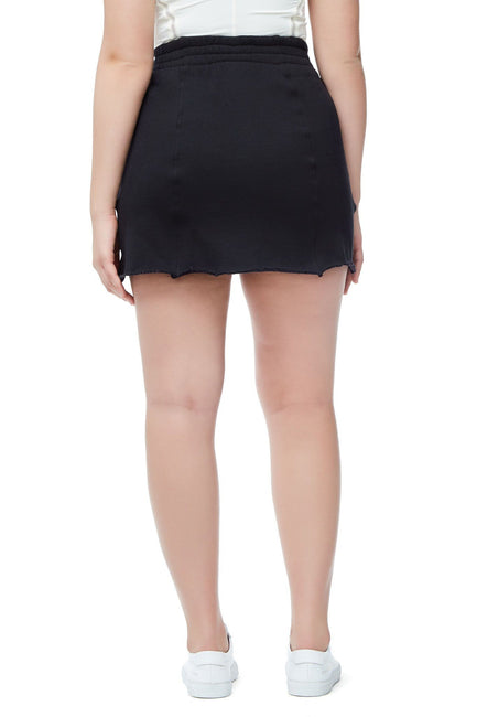 Good American The High Waist Sweat Skirt | Black001
