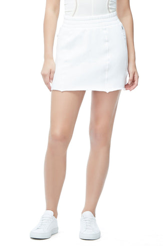 THE HIGH WAIST SWEAT SKIRT | WHITE001