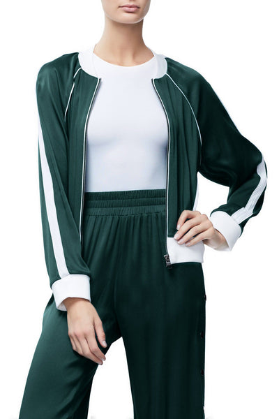 THE SATIN BOMBER | EMERALD001