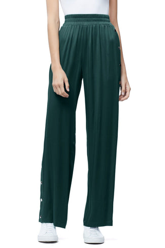 THE SATIN SNAP PANT | EMERALD001