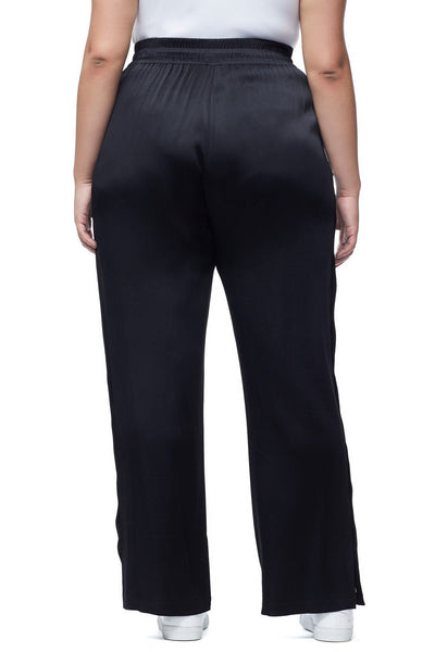 THE SATIN SNAP PANT | BLACK001