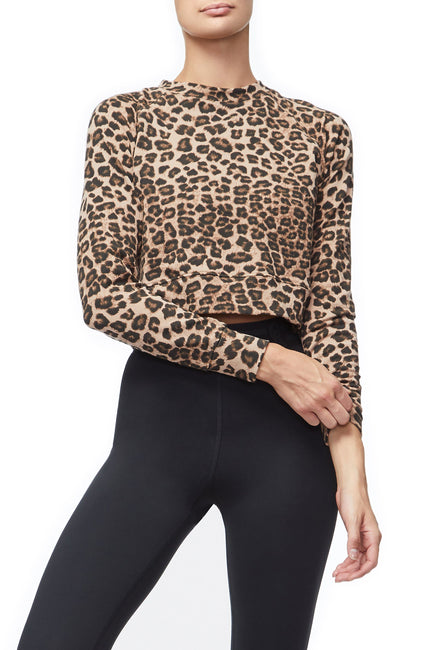Good American The Cropped Crew | Leopard001