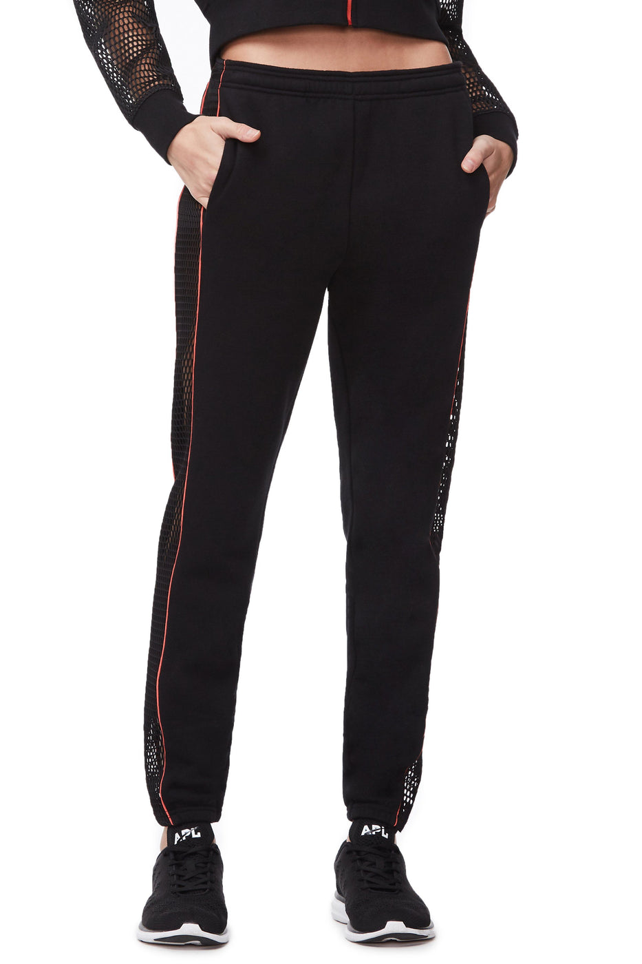 THE MESH SWEATPANT | BLACK001