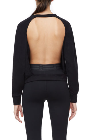THE OPEN BACK SWEATSHIRT | BLACK001