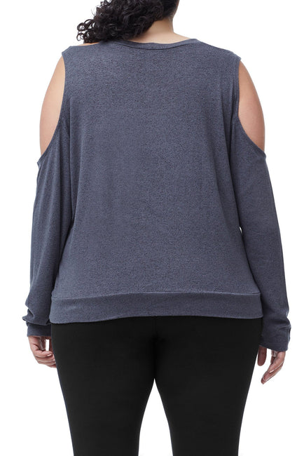 THE COLD SHOULDER SWEATER | CHARCOAL001
