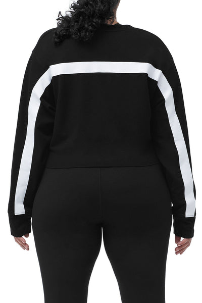 THE WARM-UP CROPPED PULLOVER | BLACK001