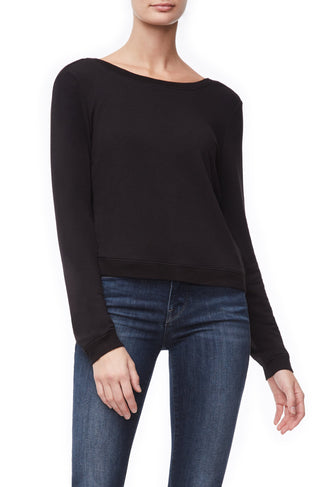THE BACK PLUNGE PULLOVER | BLACK001
