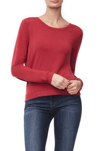 THE BACK PLUNGE PULLOVER | RED001