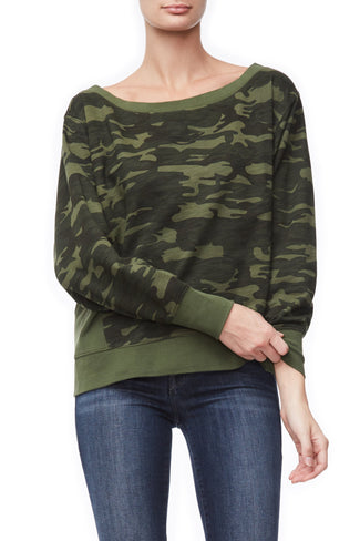 THE OFF SHOULDER SWEATSHIRT | CAMO001