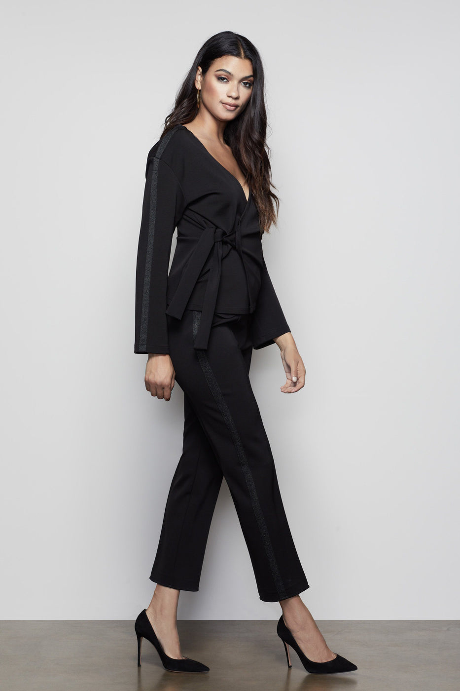 THE GLAM SUIT TOP | BLACK001
