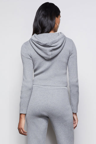THE OVERNIGHT FLIGHT HOODIE | HEATHER GREY001