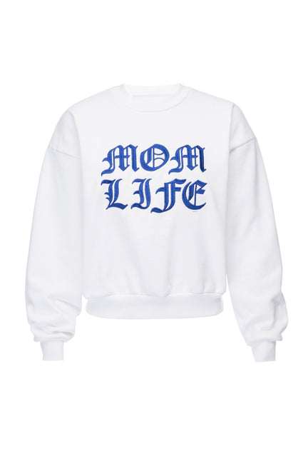 THE MOM LIFE SWEATER | WHITE001