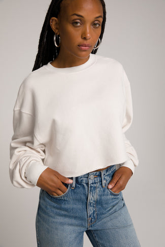 CROPPED & COOL SWEATSHIRT | BONE001