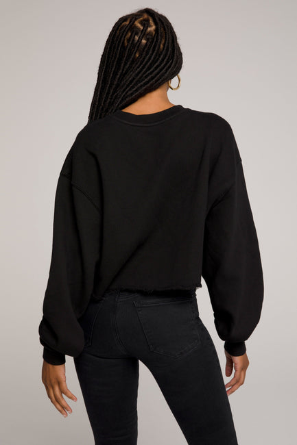 CROPPED & COOL SWEATSHIRT | BLACK001