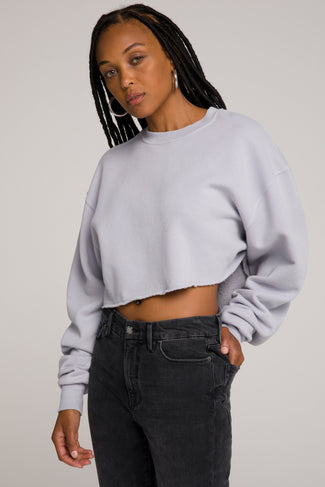 CROPPED & COOL SWEATSHIRT | LILAC001