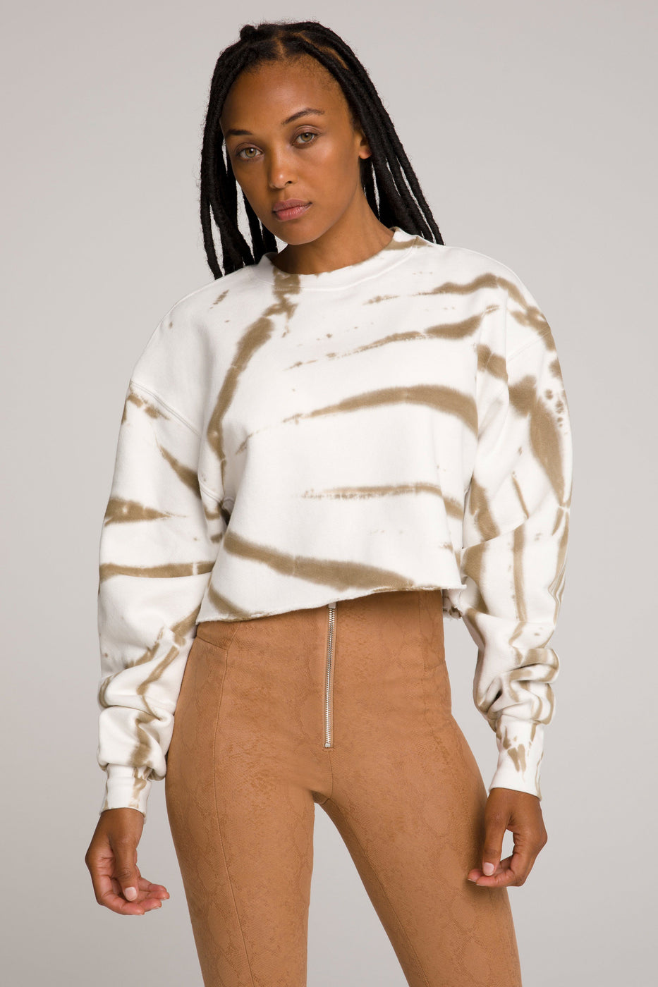 CROPPED & COOL SWEATSHIRT | PUTTY TIE DYE001