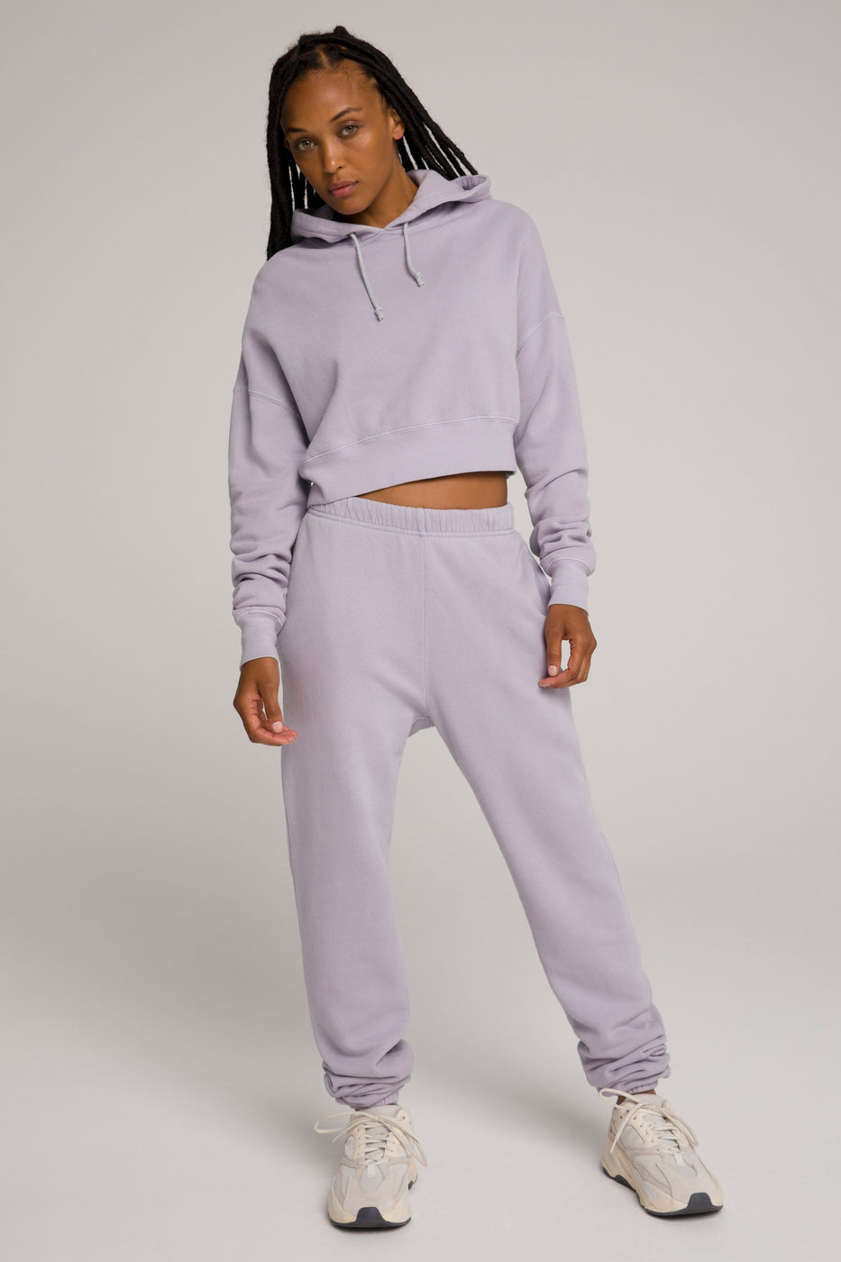 CROPPED & COOL HOODIE | LILAC001