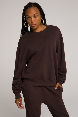 BOYFRIEND SWEATSHIRT | COFFEE001