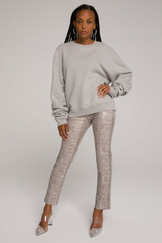 BOYFRIEND SWEATSHIRT | HEATHER GREY001