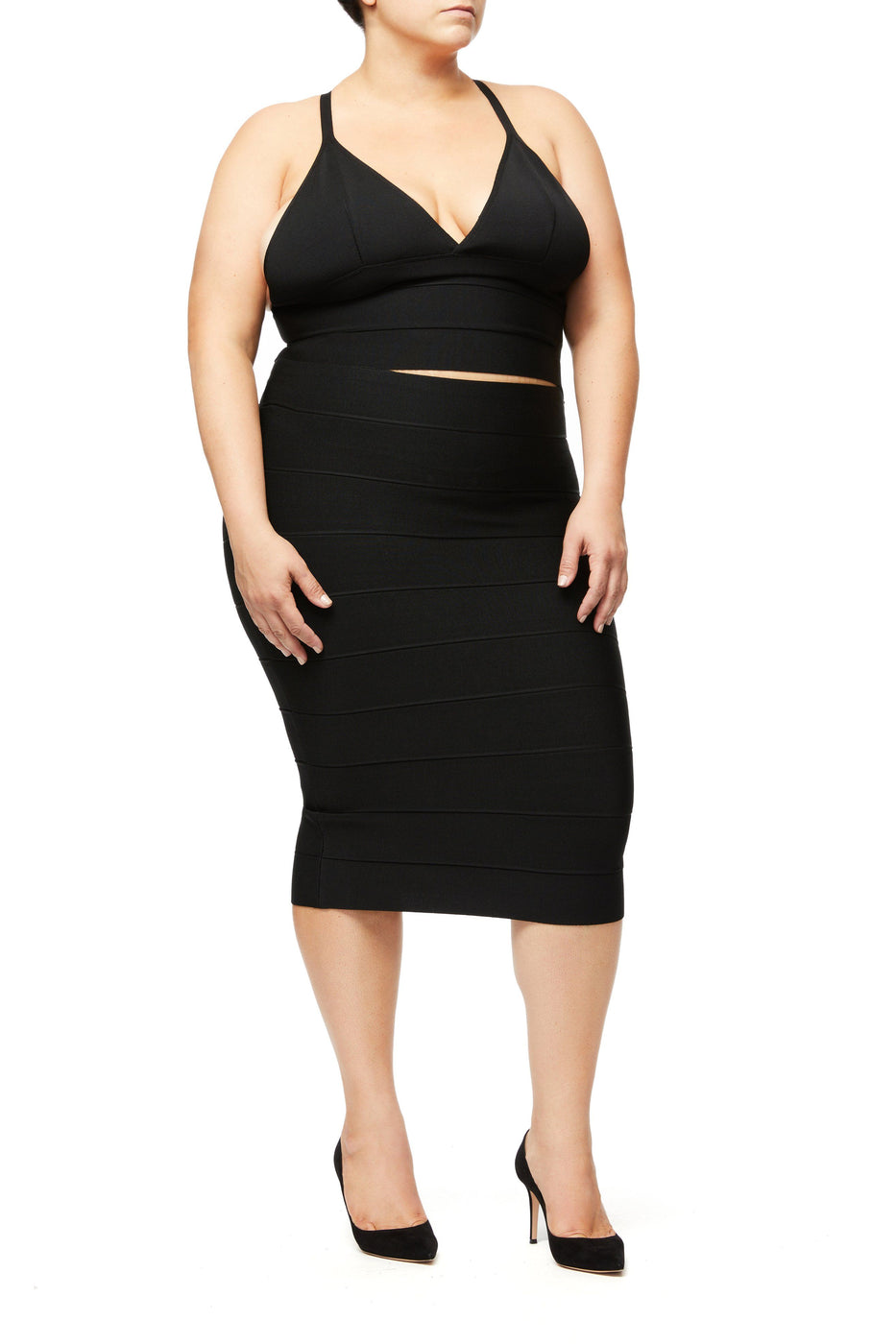 THE EXPRESS YOURSELF BANDAGE SKIRT | BLACK001