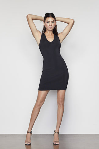 THE LITTLE BLACK MIDI DRESS | BLACK001