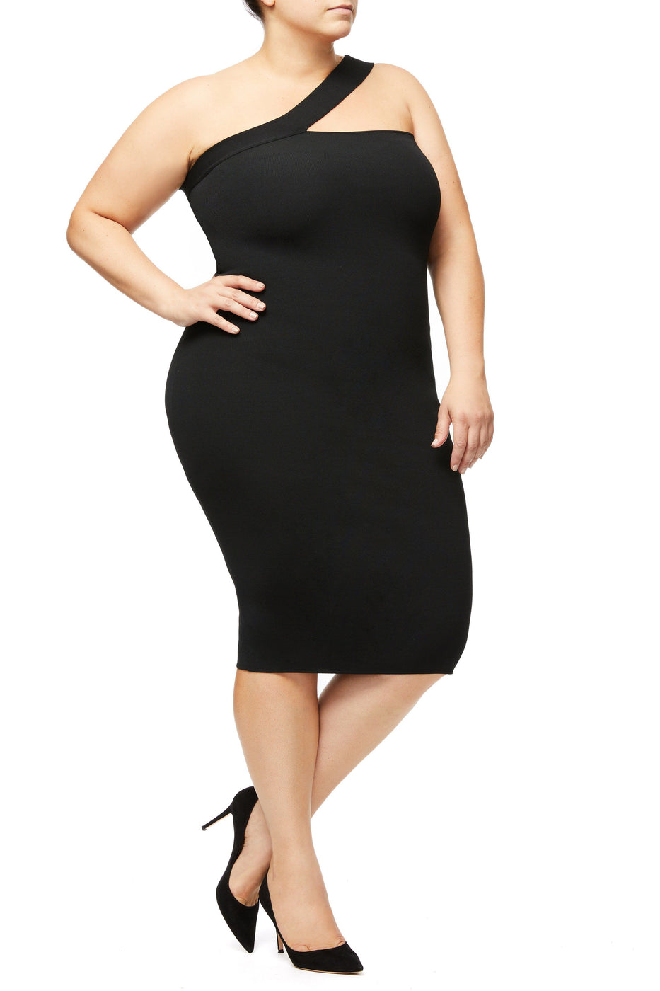 THE NIGHT OUT  ASYMMETRICAL DRESS | BLACK001