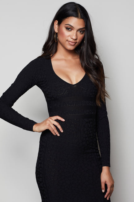 THE LOW DOWN CHEETAH DRESS | BLACK005