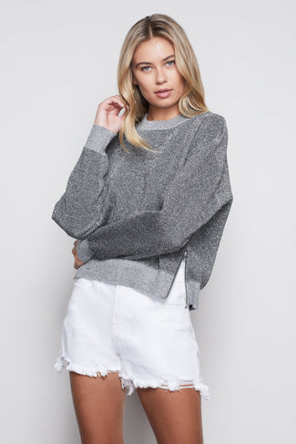 ALL THAT GLITTERS SWEATSHIRT | SILVER001
