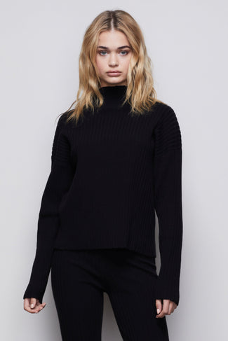 THE GO-TO BOXY SWEATER | BLACK001