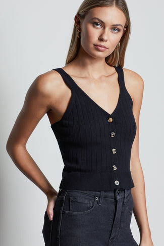 WIDE RIB CROP TANK | BLACK001