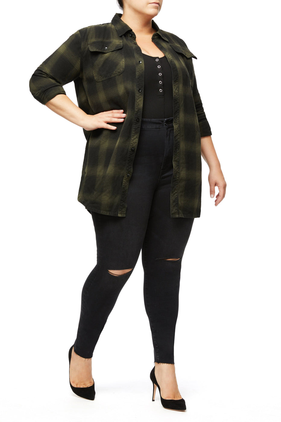 THE OVERSIZED PLAID SHIRT | HUNTER001