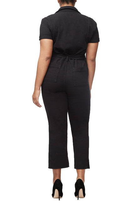 THE WAIST-TIE JUMPSUIT | BLACK001