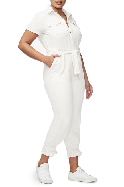 THE WAIST-TIE JUMPSUIT | WHITE001
