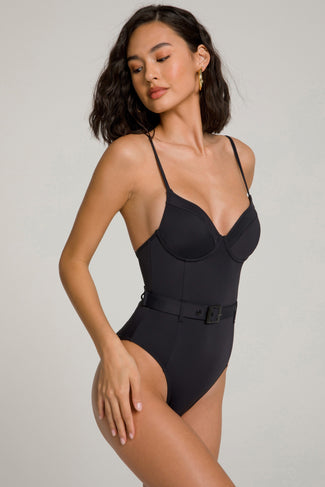 SHOWOFF ONE-PIECE | BLACK001