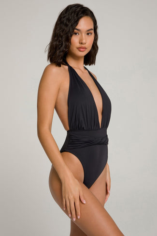 WAIST CINCHER ONE-PIECE | BLACK001