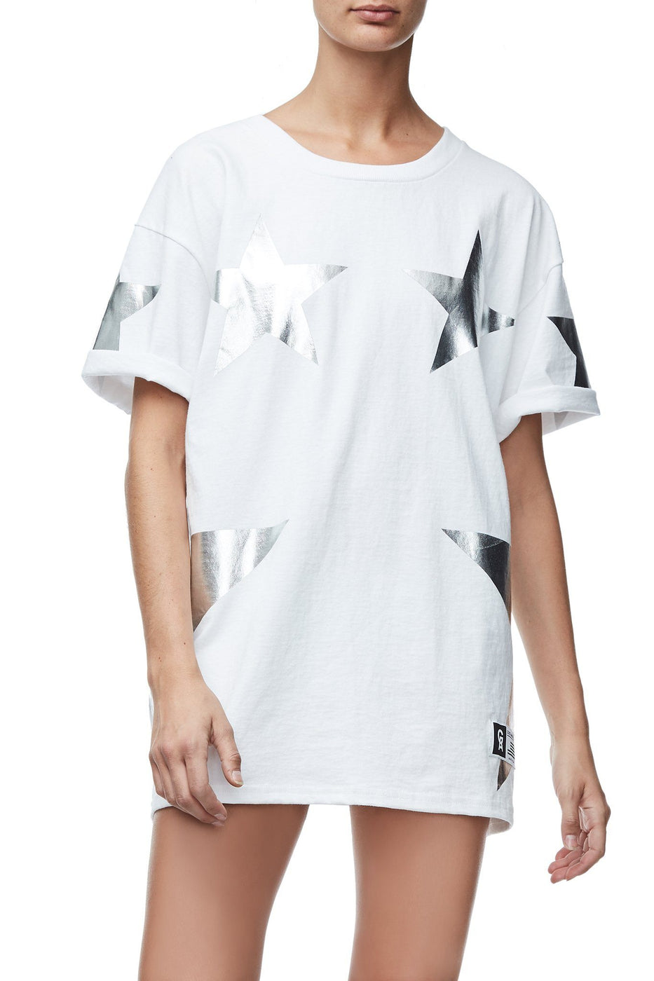 Good American Goodies Super Star Tee | Silver001