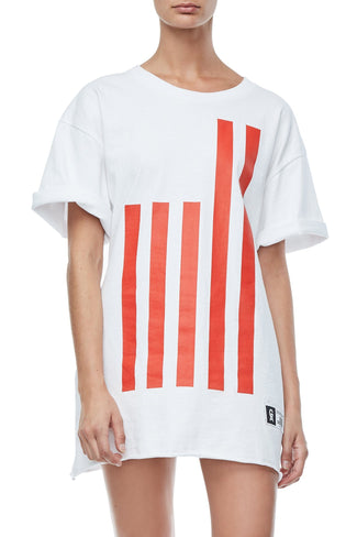 GOODIES FLAG TEE | WHITE001