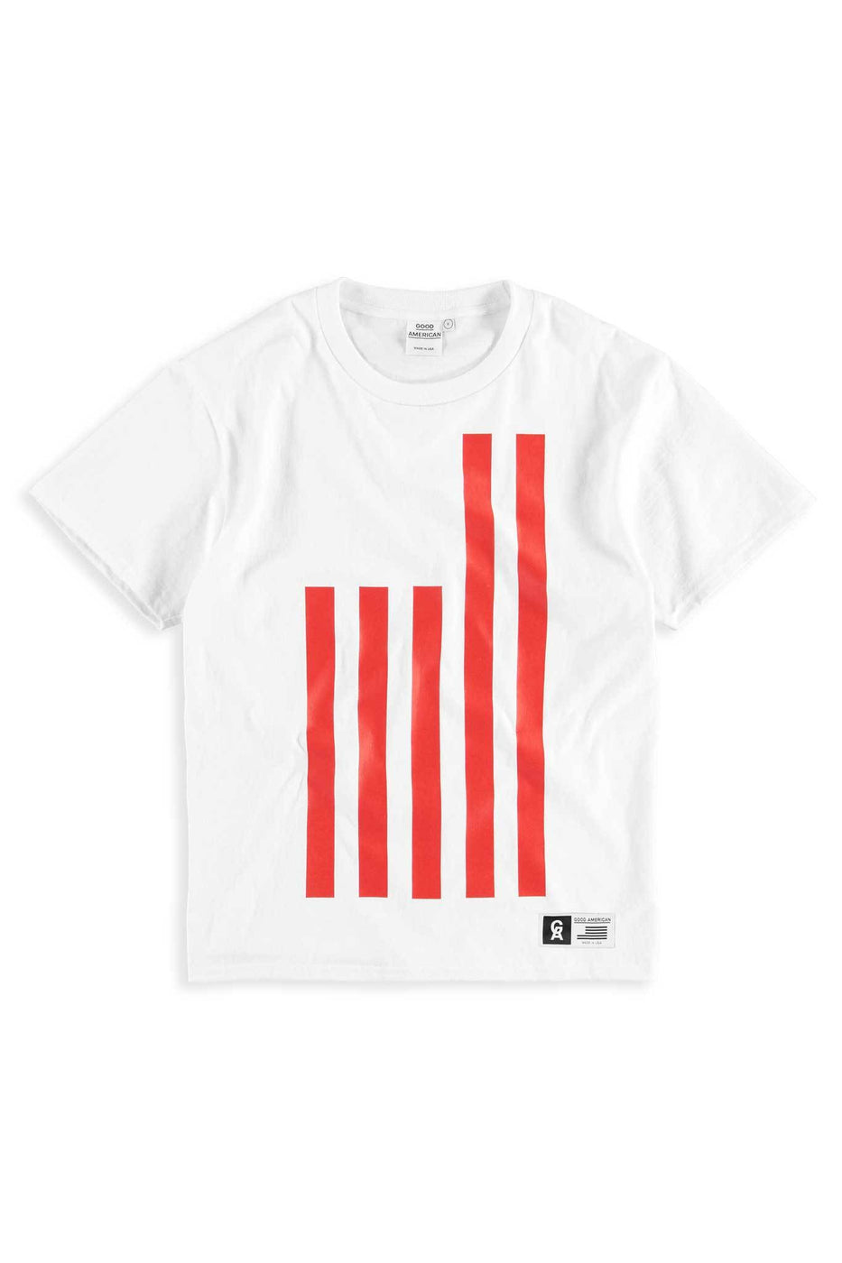 Good American Goodies Flag Tee | White001