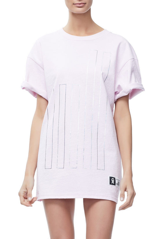 GOODIES IRIDESCENT CINCHED WAIST TEE | PINK001