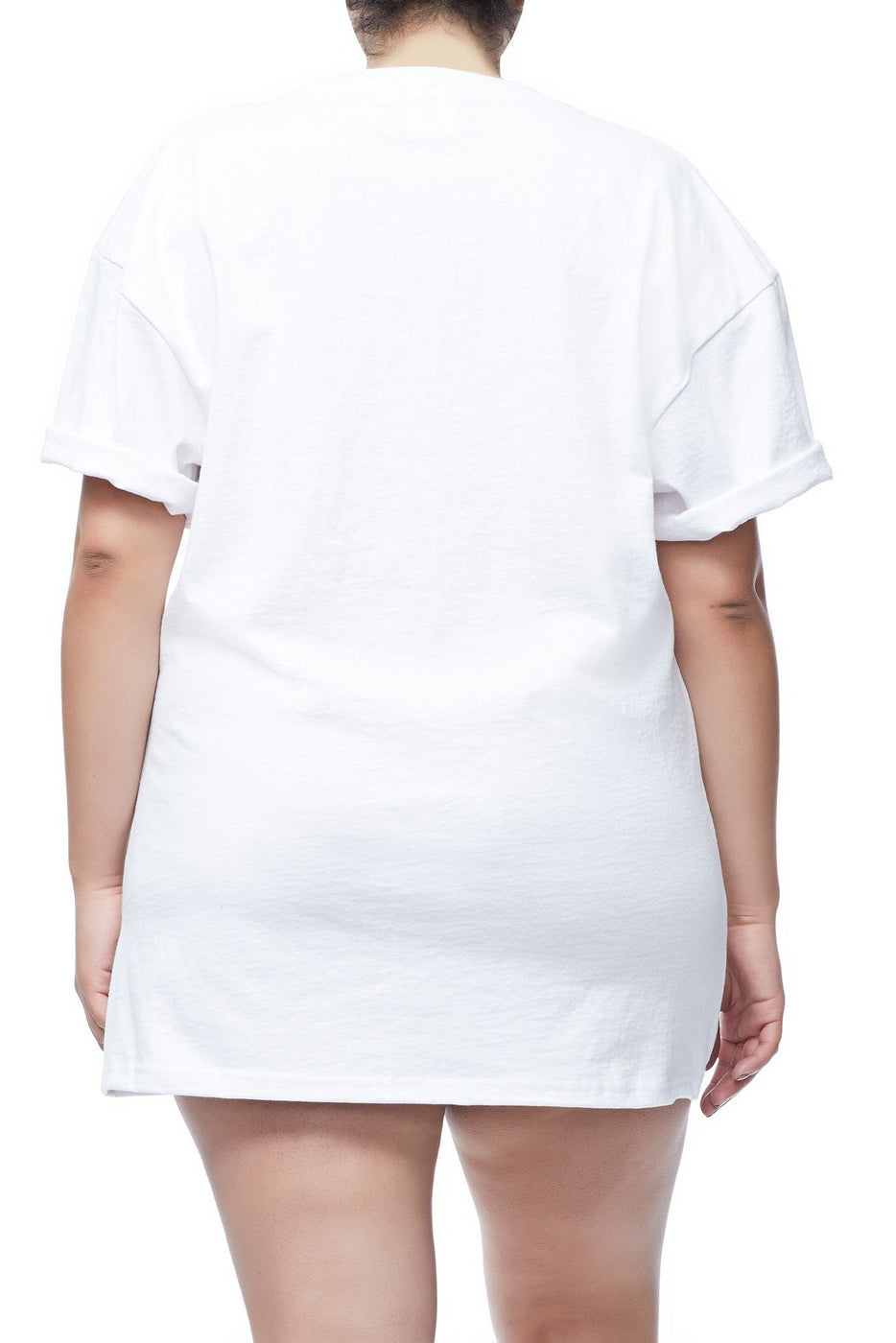 Good American Goodies Cinched Waist Tee | White001