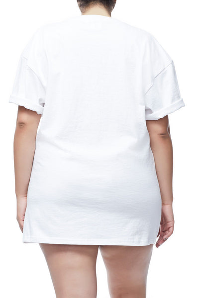 GOODIES IRIDESCENT CINCHED WAIST TEE | WHITE001