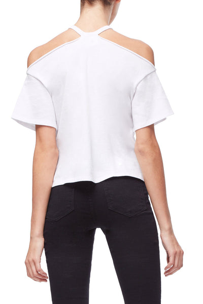 THE COLD SHOULDER TEE | WHITE001