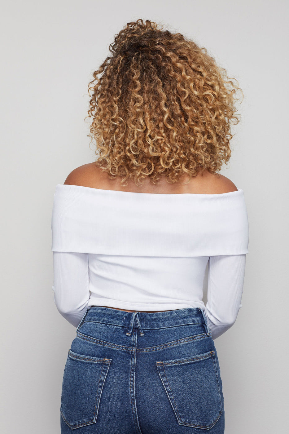 THE RIBBED OFF SHOULDER TOP | WHITE001