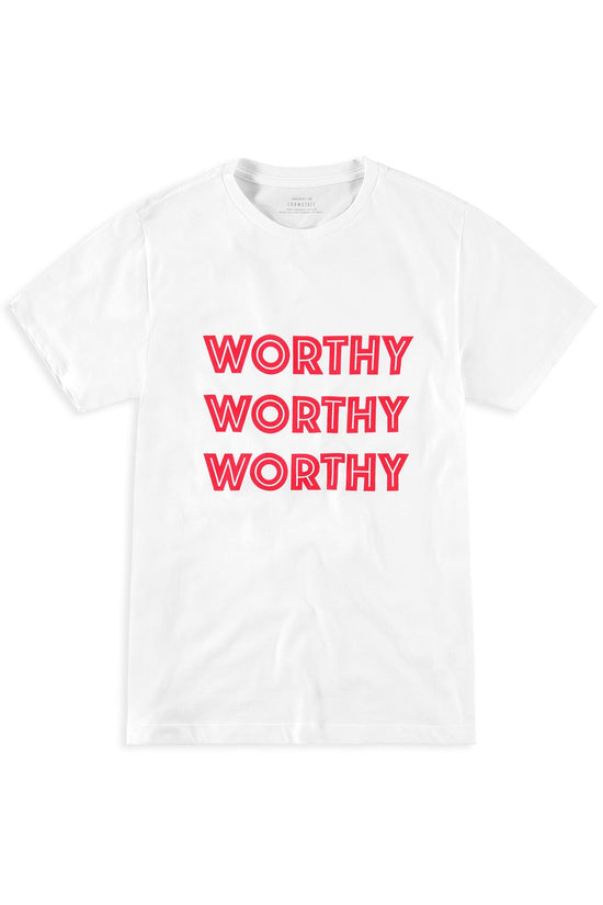 THE WORTHY TEE | WHITE001