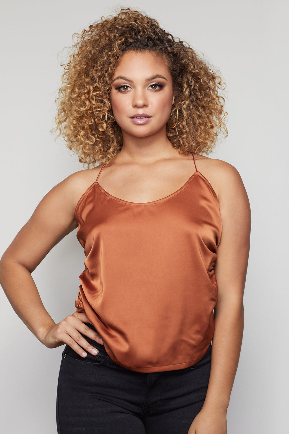 THE RUCHED CAMI | COPPER001