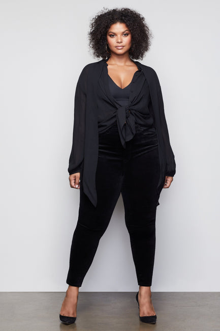 THE OLD HOLLYWOOD BLOUSE | BLACK001