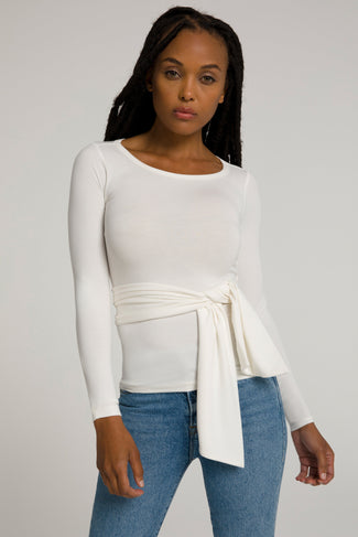 WRAP AROUND TOP | IVORY001